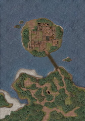 Thistletop Fortress and Briar Tunnels - with Grid