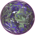 Colorful planet, full lighting