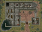 The Ruined Monastery - with grid